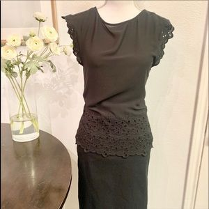 Loft Lace Trimmed Blouse Small